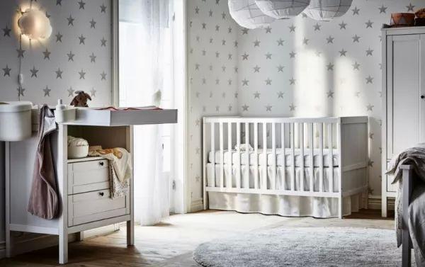 ديكورات غرف نوم اطفال حديثي الولادة 2018 بالالوان المحايدة