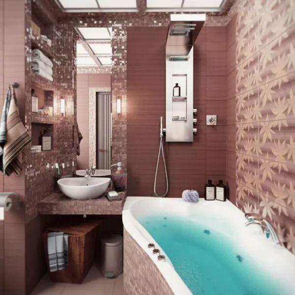 الوان حمامات صغيرة افكار عبقرية من ديكورات الحمامات الصغيرة   خربشه الوان حمامات صغيرة