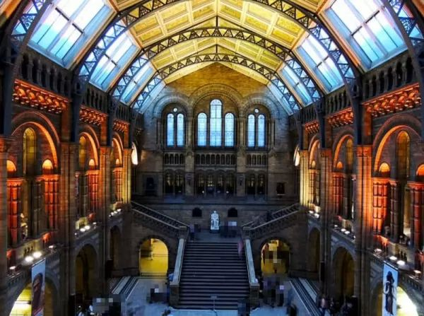 متحف التاريخ الطبيعي من اجمل اماكن سياحية في بريطانيا