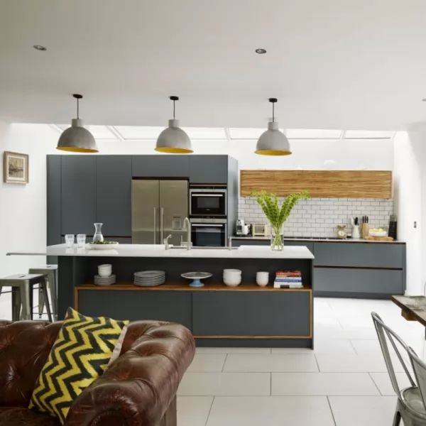 Open Plan Kitchen Living Room Designs: تصاميم مثيرة من المطابخ المفتوحة للمنازل العصرية