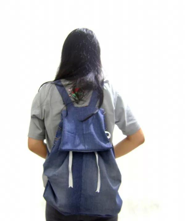 468d94904db07 كيف تصنع حقيبة ظهر من الجينز في المنزل بالخطوات ؟ - خربشه